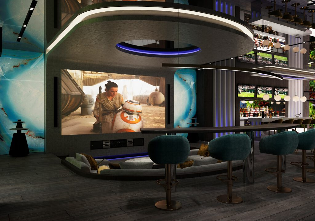 32 Basement Cinema Entertainment Area 2